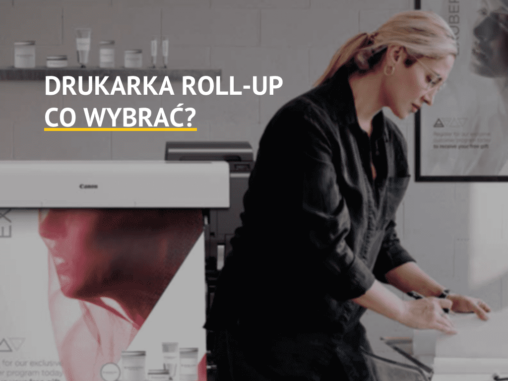 Drukarka roll-up w biurze